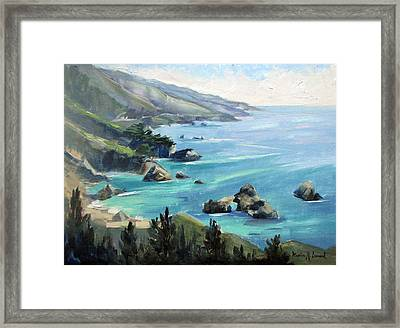 Warm Winter Day Big Sur Framed Print by Karin  Leonard