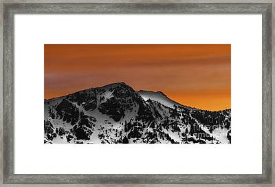 Warm Winter Framed Print by Mitch Shindelbower