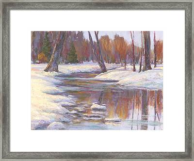 Warm Winter Reflections Framed Print by Billie Colson