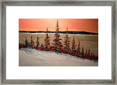 Warm Winter Sky Up North Framed Print