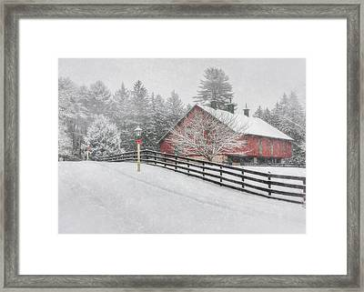 Warmest Holiday Wishes Framed Print by Lori Deiter