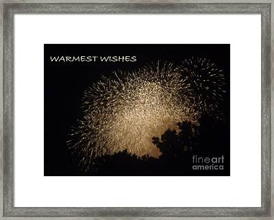 Framed Print featuring the photograph Warmet Wishes by Christina Verdgeline