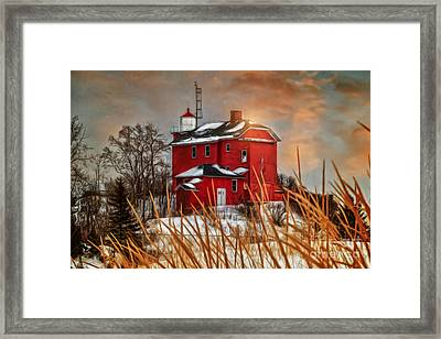 Warming By The Sun Framed Print by Upper Peninsula Photography