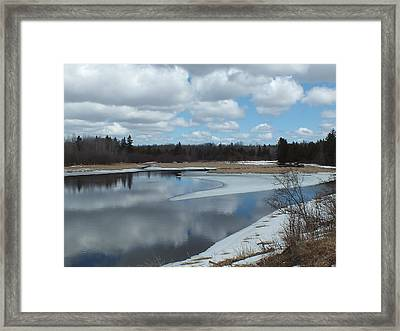 Framed Print featuring the photograph Warming Days by Gene Cyr