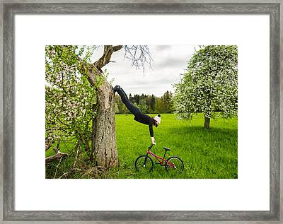 Warming Up For Some Bmx Flatland Action Framed Print by Matthias Hauser