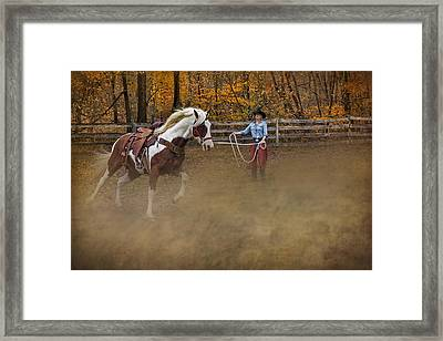 Warming Up Framed Print by Susan Candelario