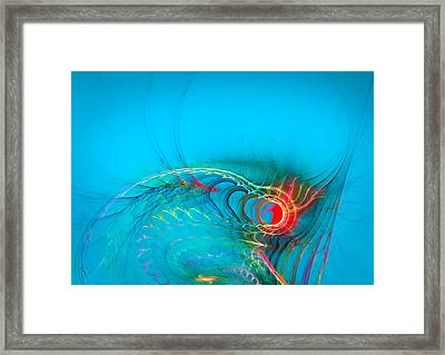 Warming Up The Blues Framed Print