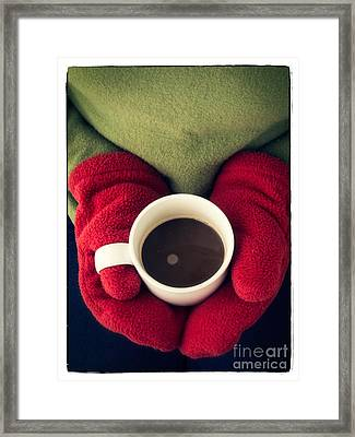Warming Up With Hot Cocoa Framed Print