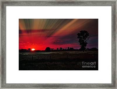 Warmth Of A Country Sunset Framed Print