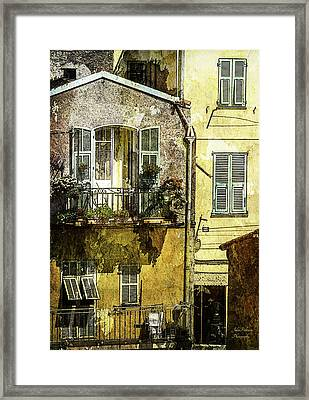 Warmth Of Old Villefranche Framed Print by Julie Palencia