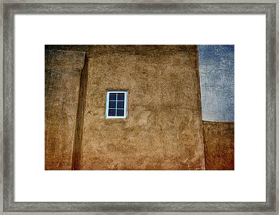 Warmth Of Santa Fe Framed Print by Carol Leigh