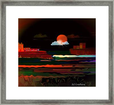 Warmth Of The Orange Framed Print by Jan Steadman-Jackson
