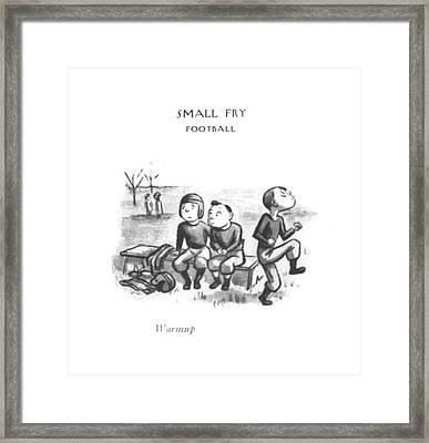 Warmup Framed Print by William Steig
