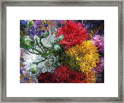 Warning Flowers At Large Framed Print