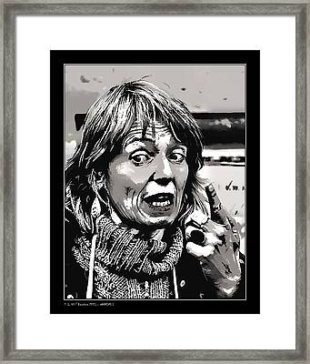 Framed Print featuring the photograph Warning I by Pedro L Gili