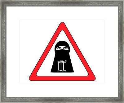 Warning Shahid Sign Framed Print by Aleksey Tugolukov
