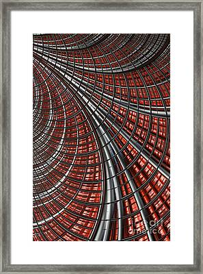 Warp Core Framed Print by John Edwards