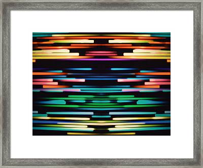 Warp Speed Abstract Center Panel Framed Print