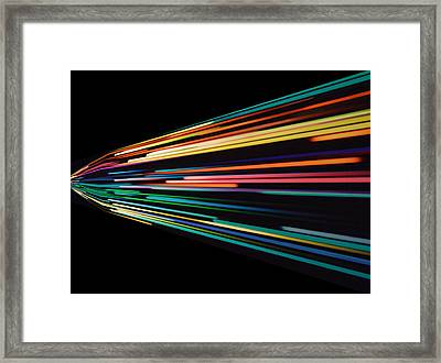 Warp Speed Abstract Left Panel Framed Print