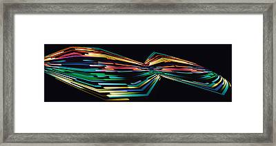 Warp Speed Abstract Panorama Framed Print