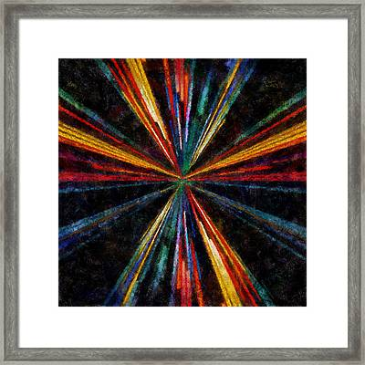 Warp Speed Abstract Pilots View Framed Print