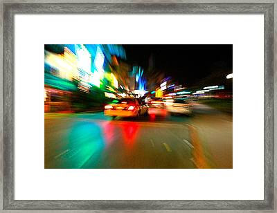 Warp Taxi Framed Print by Gary Dunkel