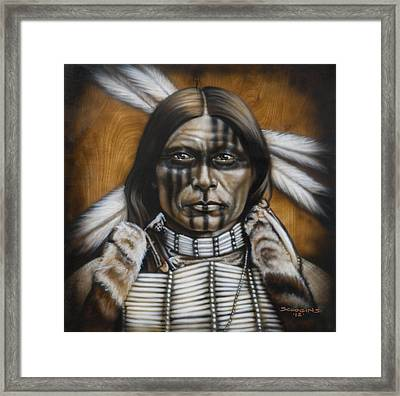 Warpaint Framed Print by Timothy Scoggins