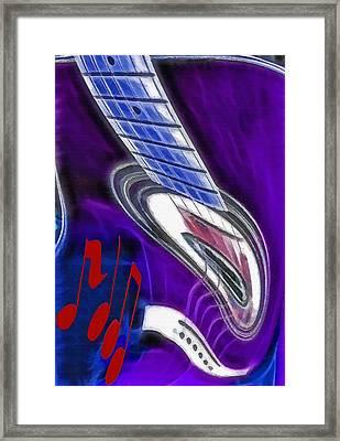 Warped Music 2 Framed Print by Steve Ohlsen