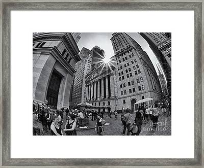 Warped Wall Street Framed Print by Mark Miller