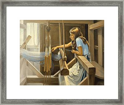 Warping The Loom  Framed Print by Paul Krapf