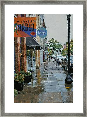 Warren Above Fifth Framed Print by Kenneth Young