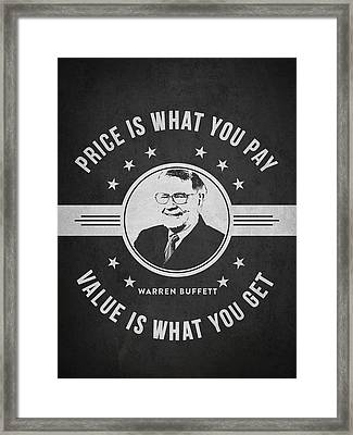 Warren Buffet - Charcoal Framed Print by Aged Pixel