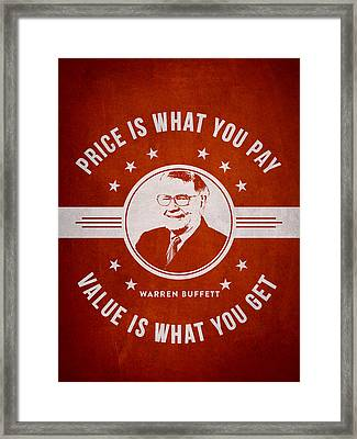 Warren Buffet - Red Framed Print