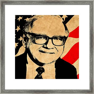 Warren Buffett Framed Pop Art