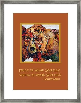Warren Buffett Greeting Card Framed Print
