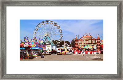 Warren County A And L Fair Midway Framed Print by   Joe Beasley