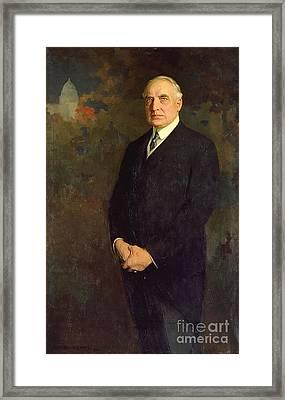 Warren Harding Framed Print