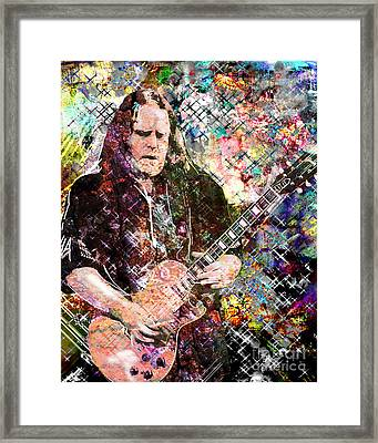 Warren Haynes Govt Mule Original Painting Art Print Framed Print by Ryan Rock Artist