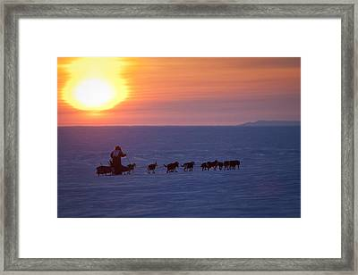 Warren Palfrey On The Trail At Sunset 7 Framed Print by Jeff Schultz