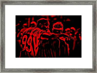 Warren Sapp And Jon Gruden Framed Print by Brian Reaves