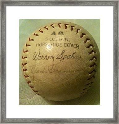 Warren Spahn Baseball Autograph Framed Print