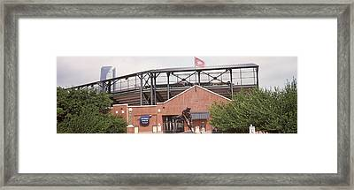 Warren Spahn Plaza At The Chickasaw Framed Print by Panoramic Images