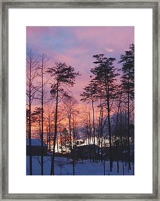 Warrenton Winter Evening Framed Print