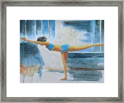 Warrier IIi Namaste Yoga Framed Print