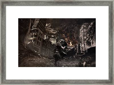 Warrior At The Time Of The Apocalypse Framed Print by Eleonora Krstulovic