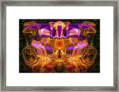 Warrior Chicken Framed Print by Omaste Witkowski