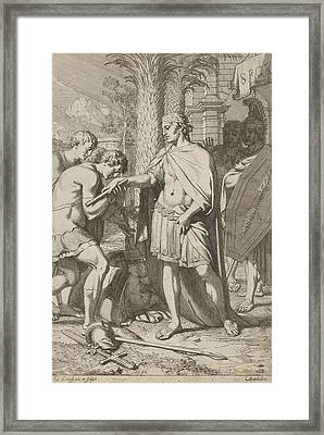 Warrior Donates Defeated Warriors Grace, Gerard De Lairesse Framed Print by Gerard De Lairesse
