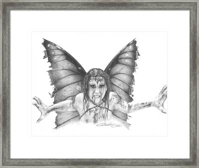 Warrior Fairy Framed Print by Carolee Conway