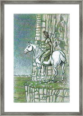 Warrior Lookout Framed Print by Bern Miller