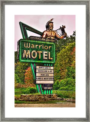 Warrior Motel Great Smokey Mountains Framed Print by Reid Callaway